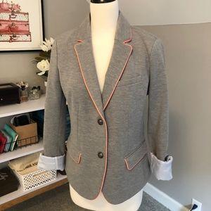 Gray GAP Academy Blazer with Coral Trim